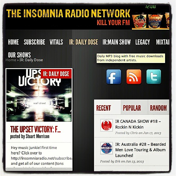 "One of the United Kingdom's great stations,Insomnia Radio, is featuring our single ""Fake This"" TODAY! Head over & check it out. Happy Friday!     http://insomniaradio.net/2013/06/21/the-upset-victory-fake-this      #UnitedKingdom #radio #fake #theupsetvictory #tunes #music #feature #insomnia #station #single #wallstreet #bands #musicians #indieartists #weekend #Friday #new"