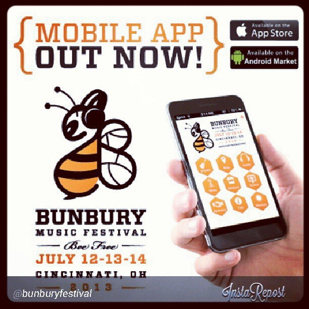 Download the Bunbury Music Festival app today! Don't forget to come see us at The Amphitheater Stage Sunday July, 14th @ 2:45PM. Info & tickets here: http://www.bunburyfestival.com @bunburyfestival #mobile #app #android #iphone #beefree #2013 #festival #concert #amphitheater #theupsetvictory #cincinnati #ohio #downtown #sawyerpoint #yeatmanscove #musicbiz #indie #rock #pop #sunday #july #tickets #music #bands #musicians #fun #mgmt
