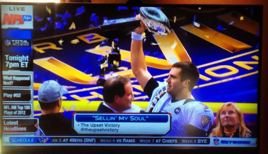 "The NFL network showing us some love by featuring our single ""Sellin' My Soul"". Re-gram courtesy of @heatherlynne88 @theupsetvictory"