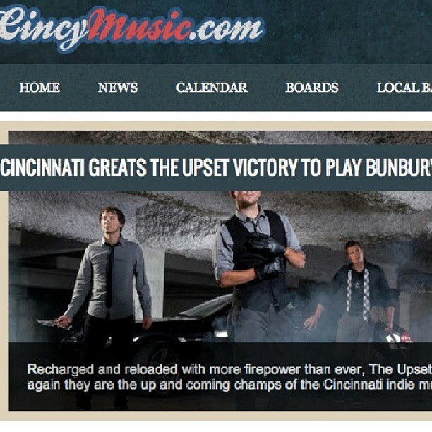 The great folks @cincymusic have featured TUV again. This time for their official @BunburyFestival preview/feature. Be sure to stop by & hang w/ us at this year's festival!    http://cincymusic.com/news/2013/05/cincinnati-greats-the-upset-victory-to-play-bunbury    #festival #concert #downtown #Cincinnati #ohio #sawyerpoint #yeatmanscove #amphitheater #stage #outdoor #bunbury #music #musicbiz #indieartist #rock #fakethis #musicvideo #feature #interview #cincymusic #bands #musicians #concert #DIY #guitarist #gig #promo #theupsetvictory #friends #photooftheday#instagood #follow #instamood #summer
