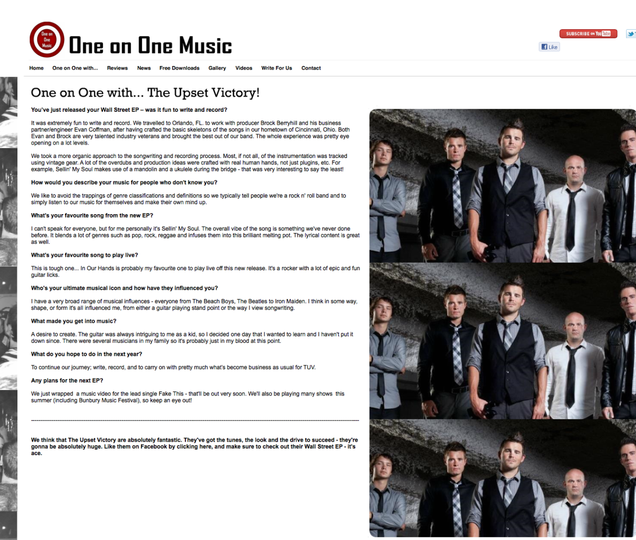 one on one music — The Upset Victory Blog — The Upset Victory