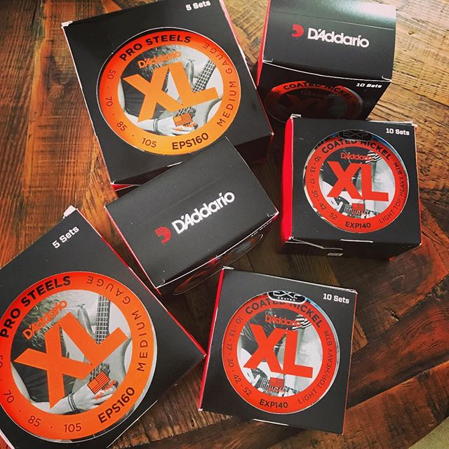 Think we're set on #guitarstrings for awhile! Thank you @daddarioandco - your strings are amazing! #daddario