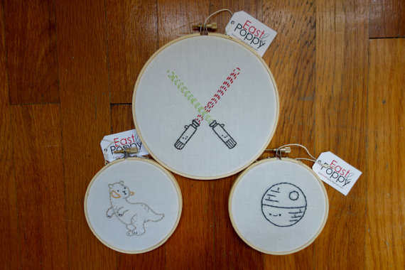Star Wars Embroidered Hoop Set