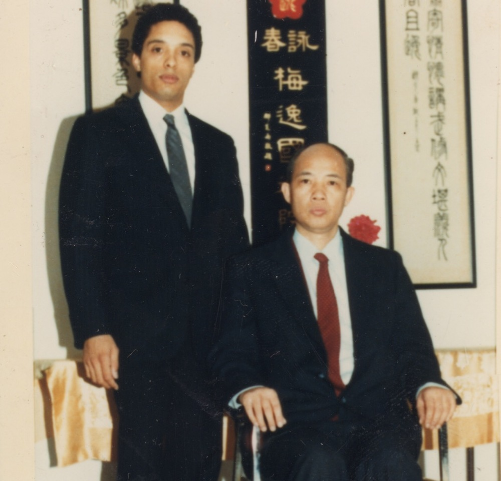Grandmaster Anthony Moy Tung Dandridge with his sifu, Grandmaster Moy Yat