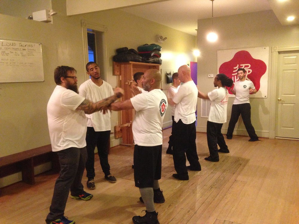 Advanced Chi Sao training (Lop Sao exercise) Thursday night at Main St.