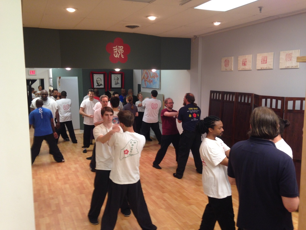 2016 Moy Yat Kung Fu Richmond anniversary Chi Sao (sticking hands) training at Barry O'Brien's school in Richmond's West End