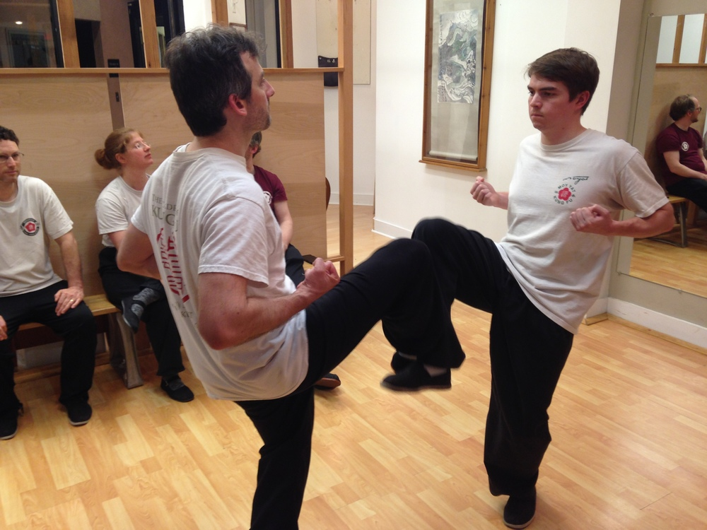 Moy Yat Ving Tsun Kung Fu Luk Gerk exercise at Barry O'Brien's school in Richmond's West End