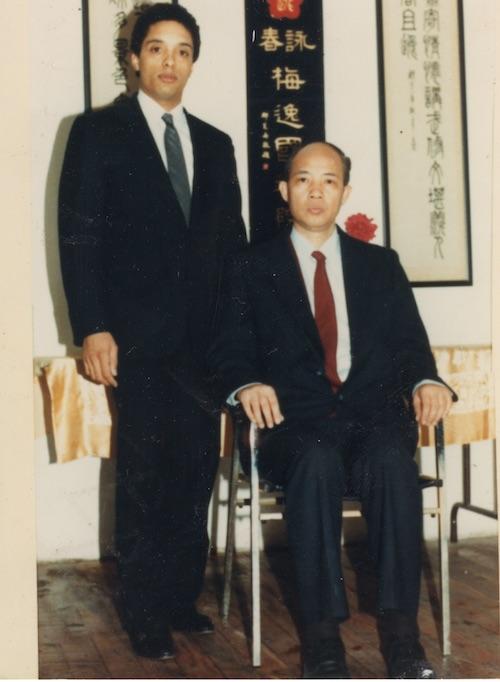 Grandmaster Moy Yat with his disciple, Anthony Moy Tung Dandridge