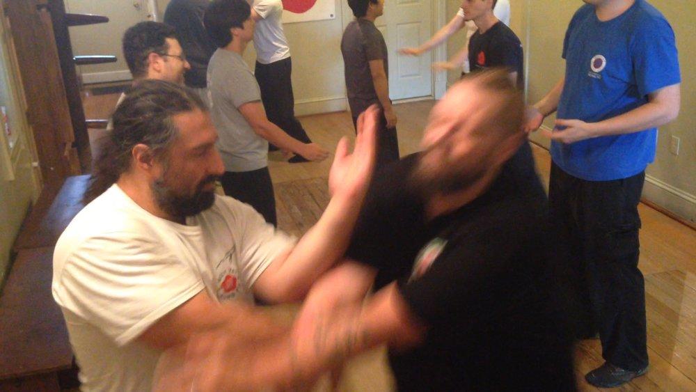 Ving Tsun (wing chun) Kung Fu Guan Sao/counter-attack, at the Aug 2016 Richmond Moy Yat Kung Fu Academy Jong workshop