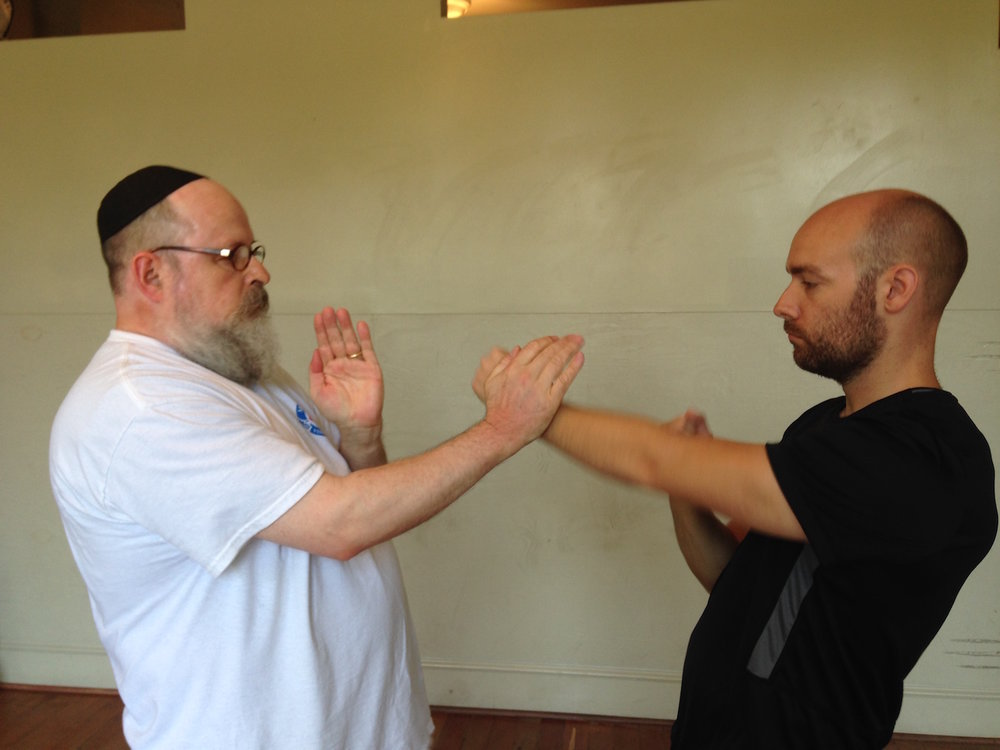 Moy Tung Ving Tsun (wing chun) Kung Fu Pak Sao exercise - this training strengthens hand-grip and hardens bones, in addition to many other benefits.