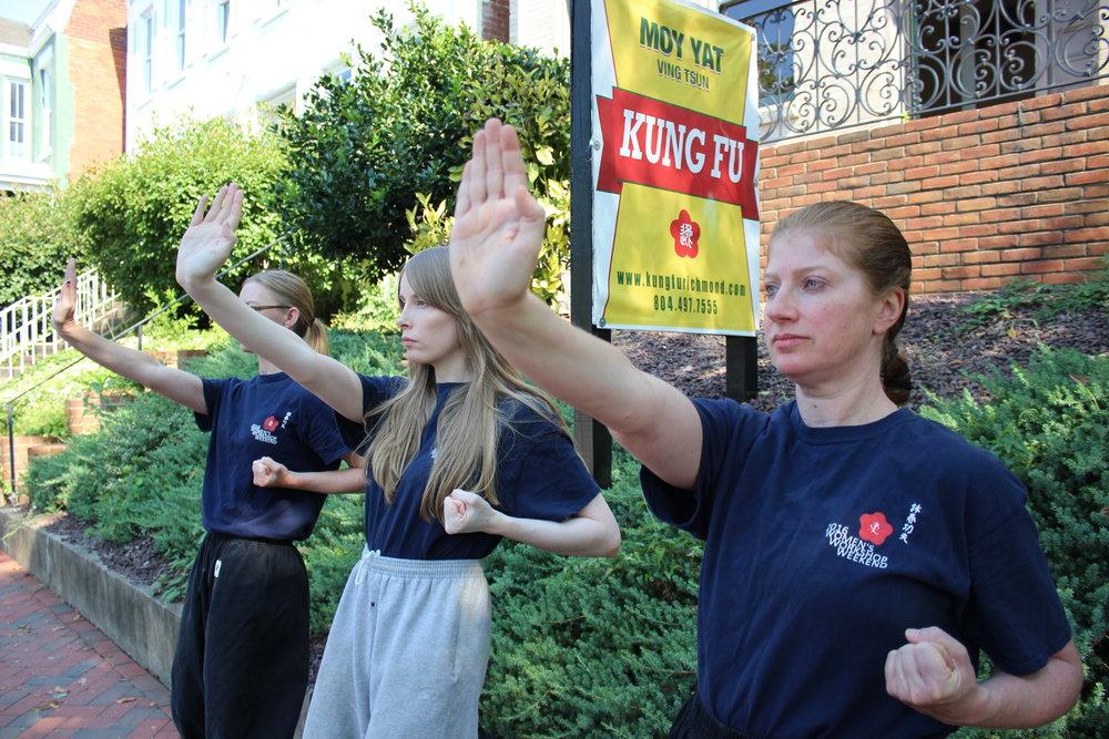 Richmond Moy Yat Kung Fu Academy Women's Program - teaching the Ving Tsun (wing chun) system