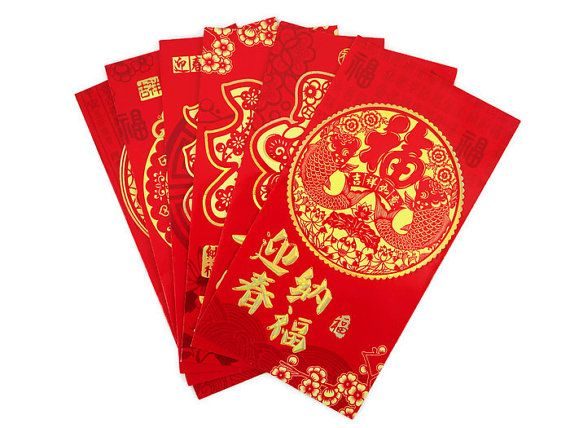 Red Pockets (Hong Bao) for Lucky Money - a Chinese tradition practiced in Moy Yat Ving Tsun Kung Fu - for wishing and bestowing good fortune