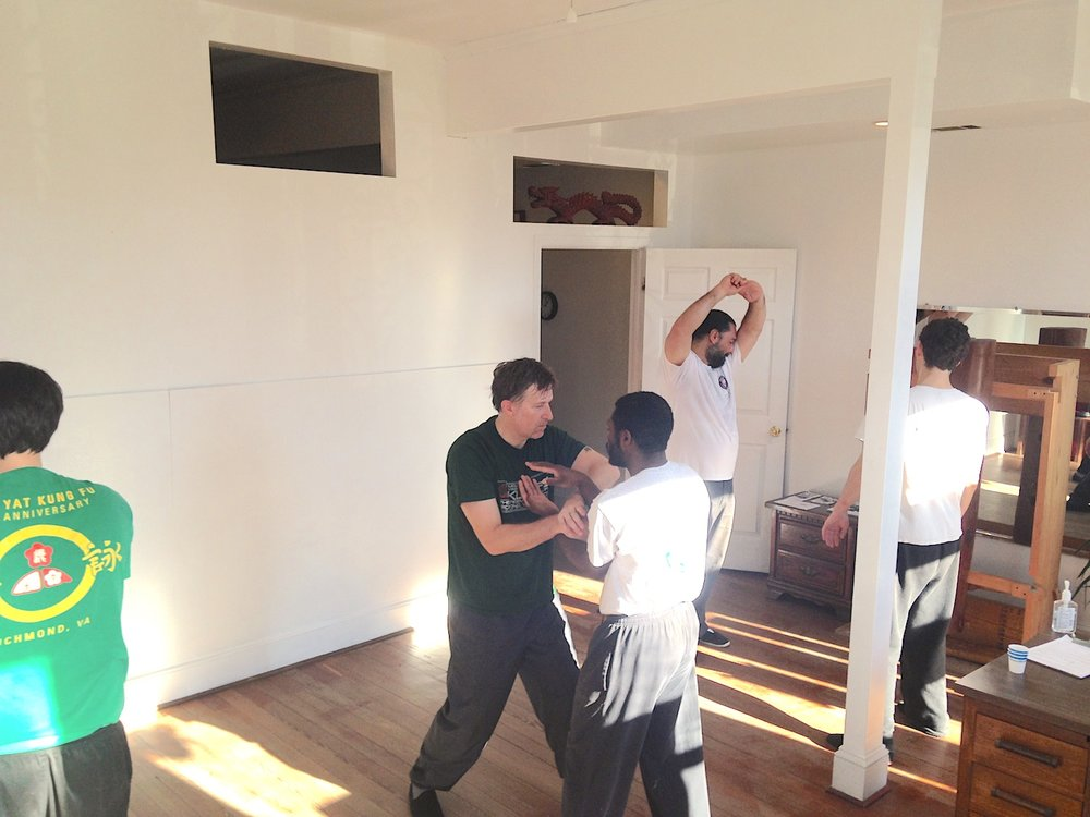 Ving Tsun (wing chun) Chi Sao training at the Richmond Moy Yat Kung Fu Academy Dec 2016 workshop