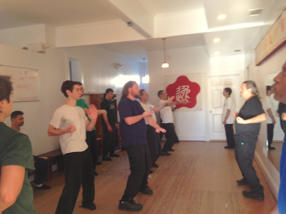 Siu Nim Tao form training at the Richmond Moy Yat Kung Fu Dec 2016 Ving Tsun (wing chun) Chi Sao workshop