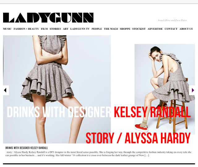 ladygunn magazine designer interview story alyssa hardy 70's style retro daywear sportswear seventies hipster cool stylist made-to-measure womenswear bridal custom bespoke handcrafted sustainable ethical local production manufacturing made in new york city nyc brooklyn bushwick emerging designer ones to watch new talent rising star best of american fashion young designer