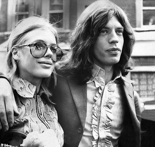 Marianne Faithfull and Mick Jagger in 1969