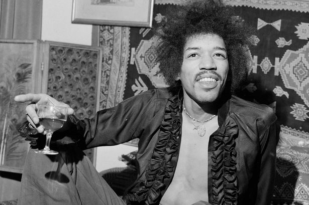 Jimi Hendrix in his London Flat circa 1968