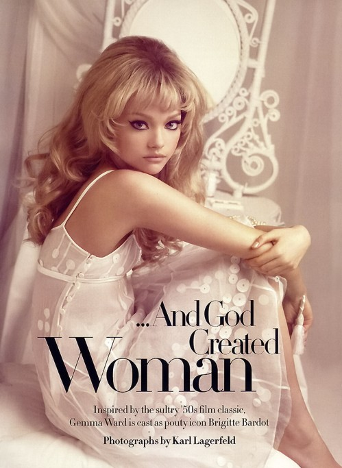 Gemma Ward by Karl Lagerfeld, Harper's Bazaar March 2006