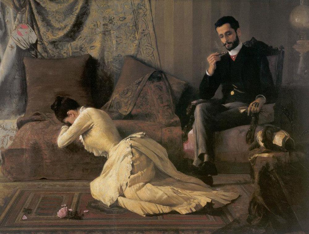 'Arrufos'by Belmiro de Almeida, 1887