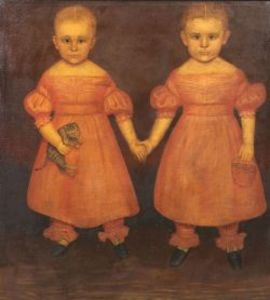 Joseph Goodhue Chandler, Portrait of the Dibble Twins, 1839