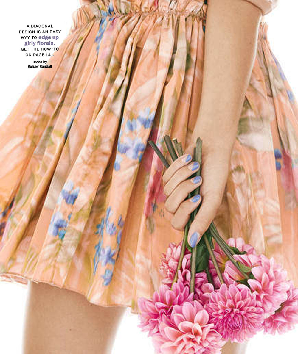 real simple magazine kelsey randall nail beauty tutorial fashion spread