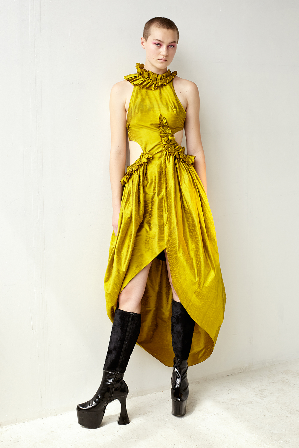 8f00892cd5 KELSEY RANDALL - shop all collections - collection III - gold silk cut out  gown
