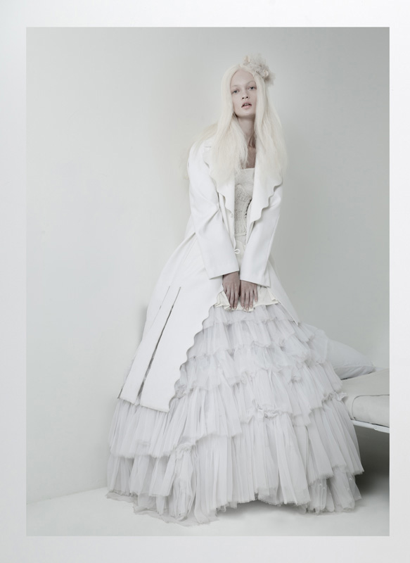 lucy's magazine kelsey randall white dress bridal sheer ruffled tulle