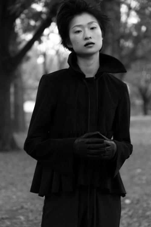 kelsey randall black suede jacket
