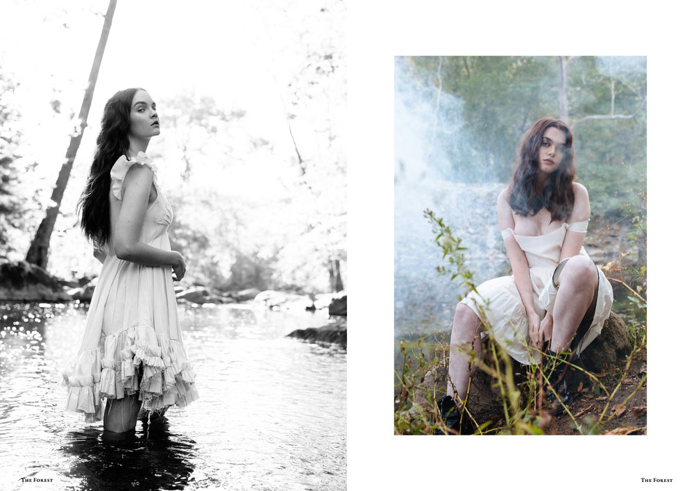 kelsey randall spencer ostrander the forest magazine bespoke muslin collection charlie howard lucia roberts