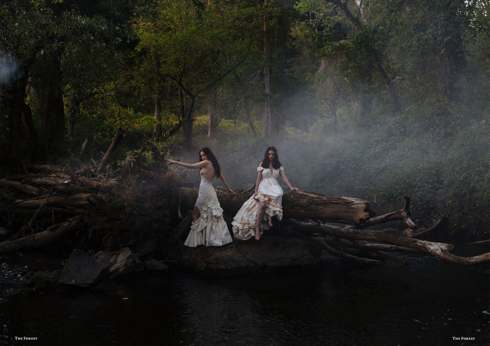 kelsey randall spencer ostrander smoke on the water bespoke muslin collection bridal the forest magazine lucia roberts charlie howard