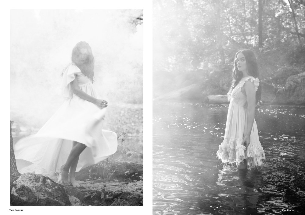 kelsey randall spencer ostrander smoke on the water bespoke muslin collection the forest magazine