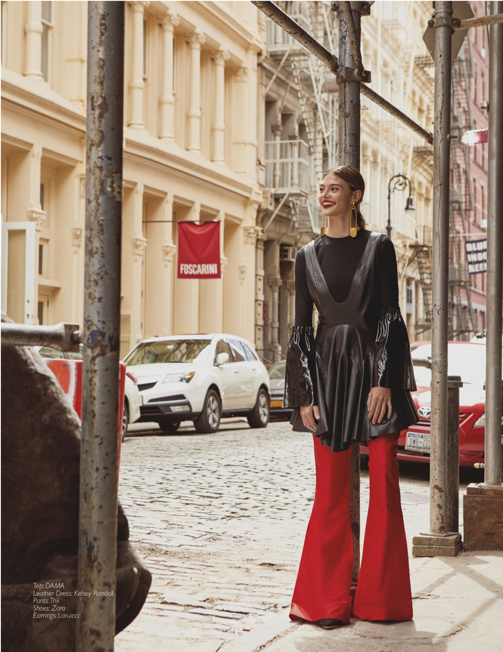Copy of Copy of kelsey randall black leather jumper dress cesar balcazar raine magazine fashion editorial