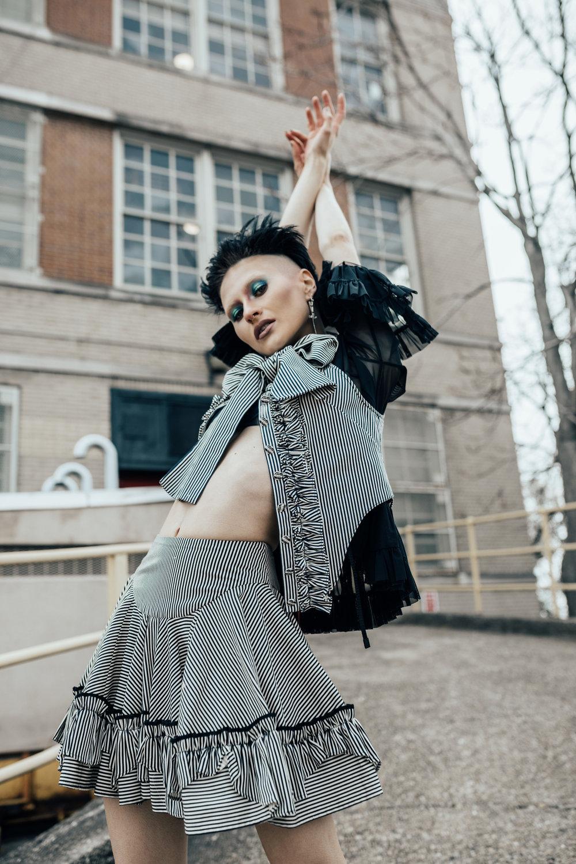 Kelsey Randall striped top shot by Lydia Hudgens styled by Derek Nguyen