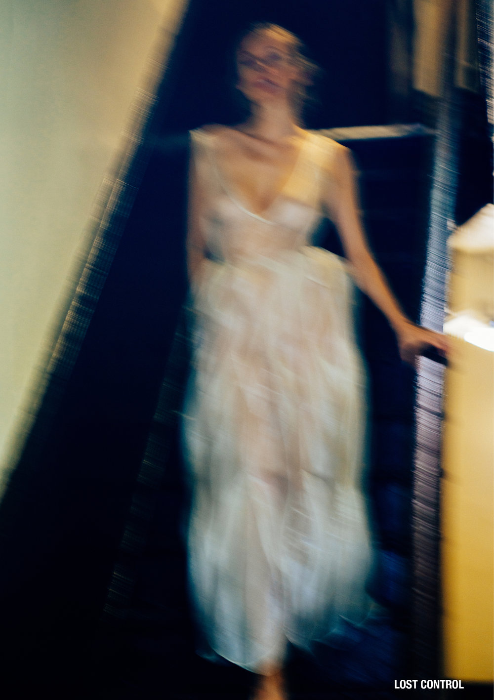 lost control kelsey randall silk organza sheer dress