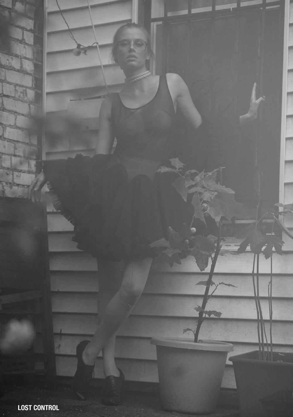 lost control black mesh tutu godet dress