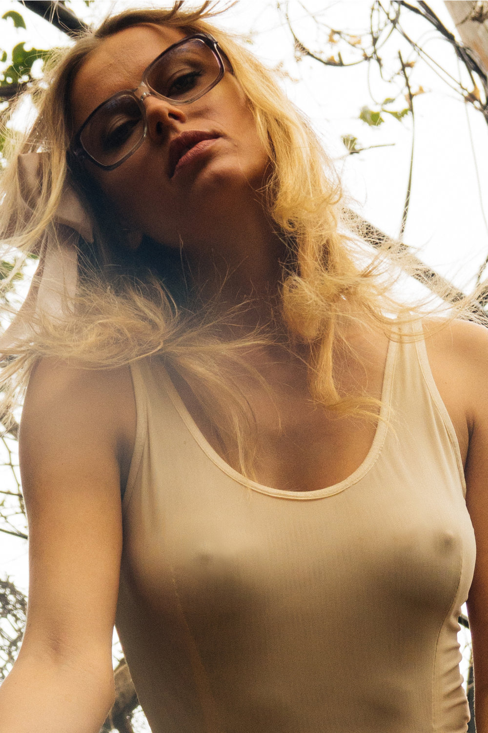 kelsey randall lost control blush mesh leotard