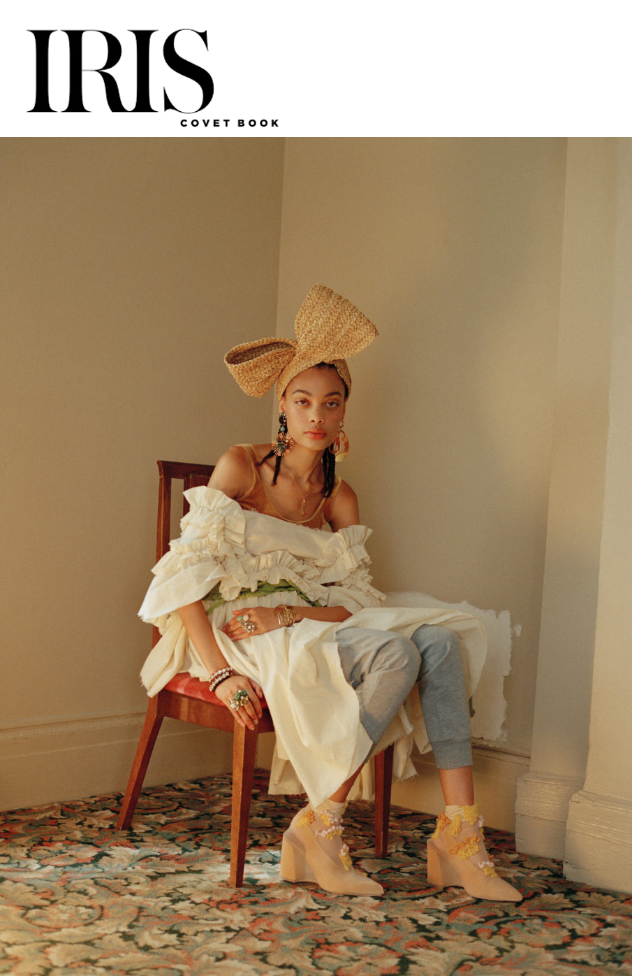 iris covet book playing house fashion editorial eaturing kelsey randall muslin ruffle angel dress