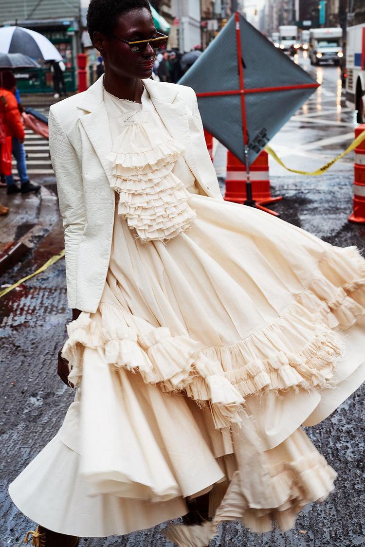 nataal fashion editorial featuring kelsey randall cream muslin dickie