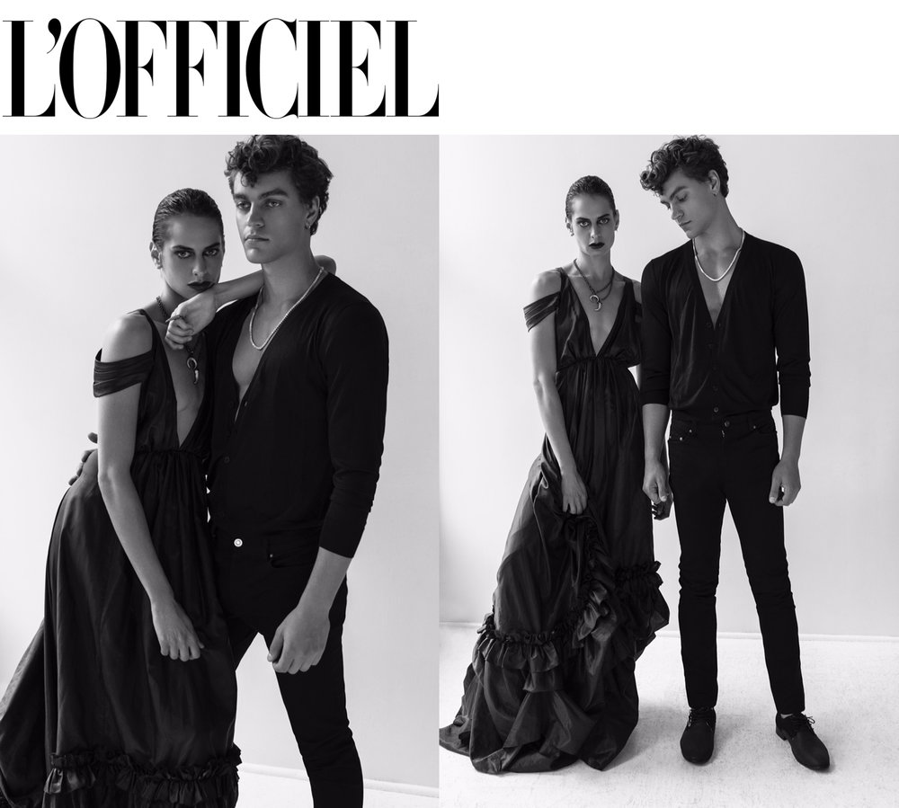 L'officiel fashion editorial featuring Kelsey Randall parachute taffeta bustle back gown dress red carpet fashion