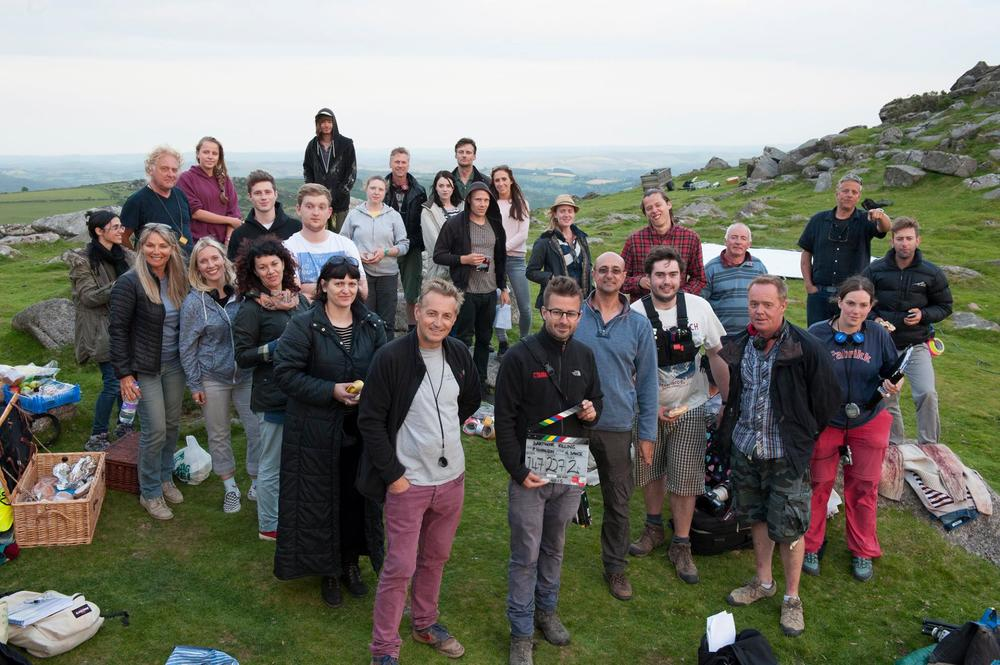 Dartmoor Killing cast and crew on location in Dartmoor. Pic by Ric Bacon.
