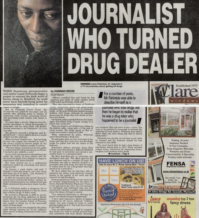 Feature on a journalist who began investigating and exposing the realities of drug use and then fell victim himself.