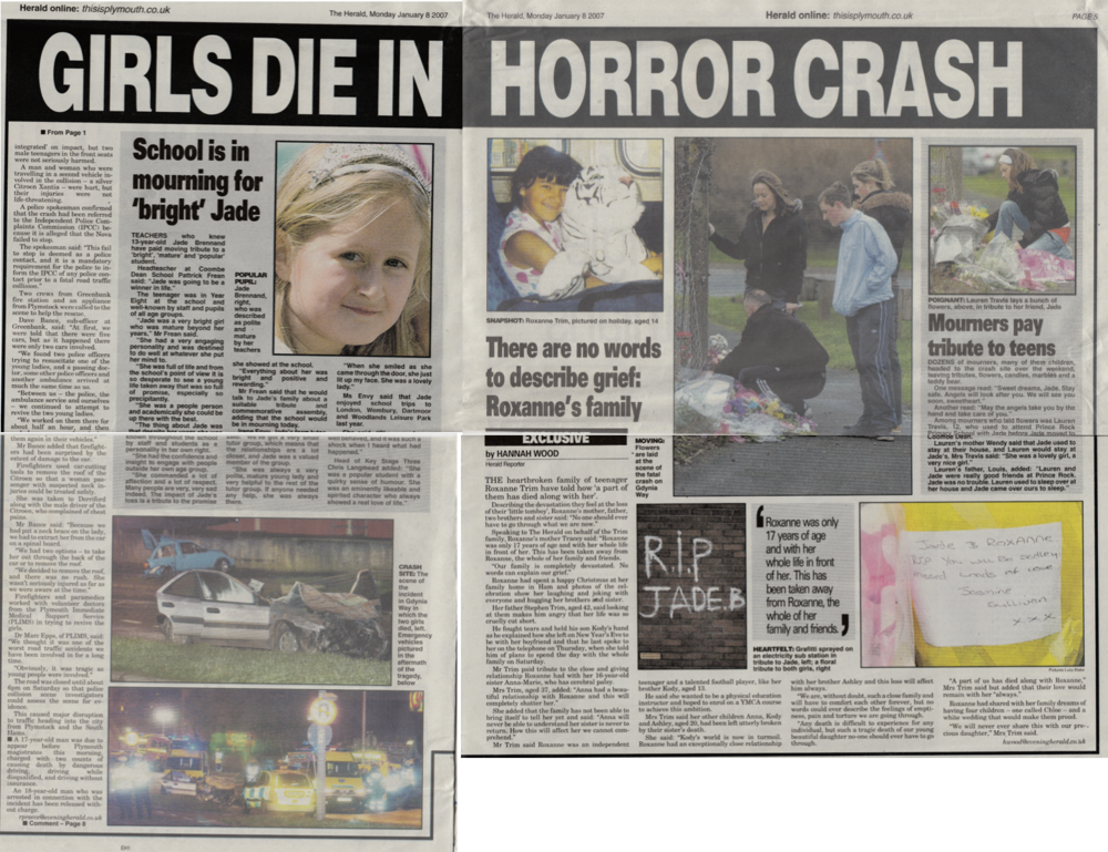 Exclusive interview with family who lost their daughter in an horrific road crash.
