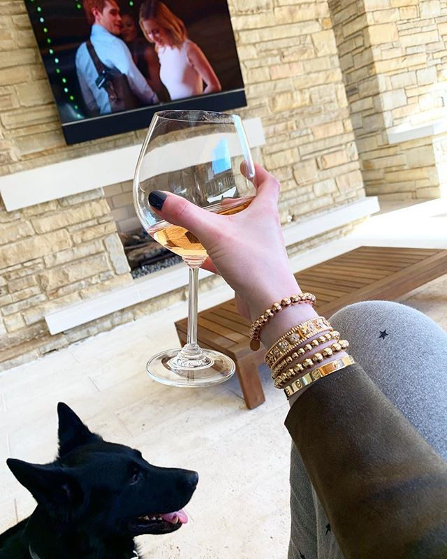 My Boy Bosco . Rosé . Riverdale #sundayfunday || But wait, do you see a Rose Gold addition to this #buddybracelet stack? Your eyes don't lie - introducing the the all new Rose Gold Buddy bracelet. Live on the web tomorrow. DM for orders if your dying for one right now. Also, don't forget to enter our amazing #giveaway with @de_la_coeur and @struck_apparel. Details in our feed. #stpatricksday