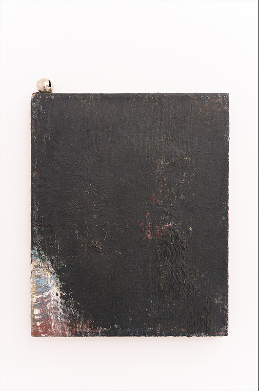Goran Trbuljak, Jazz Brush, 1991, Oil on canvas, bell, 33 x 27 cm