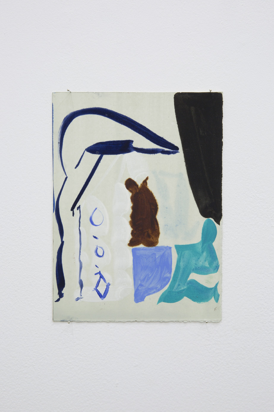 Patricia Treib, Delft Icon Variation, 2015. Oil on paper, 7 1/2 x 5 1/2 inches (18 x 13 cm)