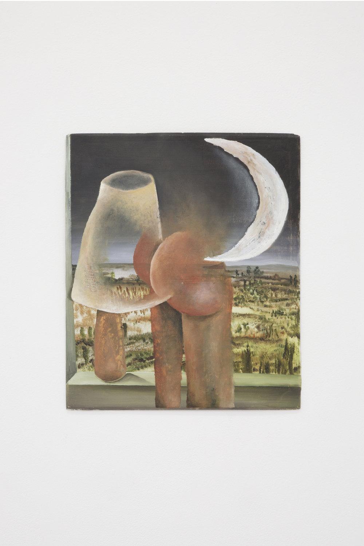 Santiago de Paoli, Nuevas sensaciones, 2017. Óleo en madera, 30 x 25 cm (18 x 18 in.)