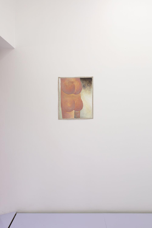 Santiago de Paoli, C.V., 2017. Óleo en fieltro, 54 x 44 cm (21 x 17.5 in.)