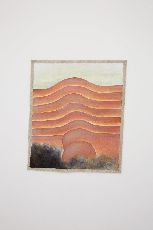 Santiago de Paoli, C.H., 2017. Óleo en fieltro, 54 x 44 cm (21 x 17.5 in.)