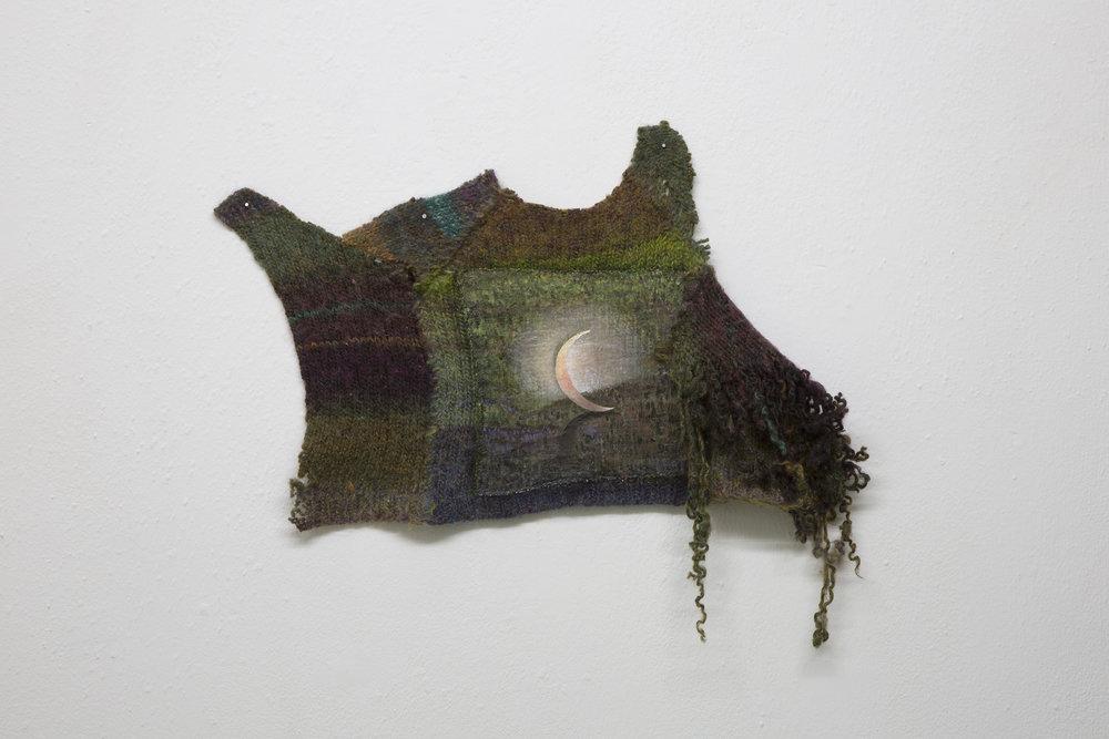Copy of Santiago de Paoli, Luna sola, 2017. Óleo en lana, 38 x 30 cm (15 x 12 in.)