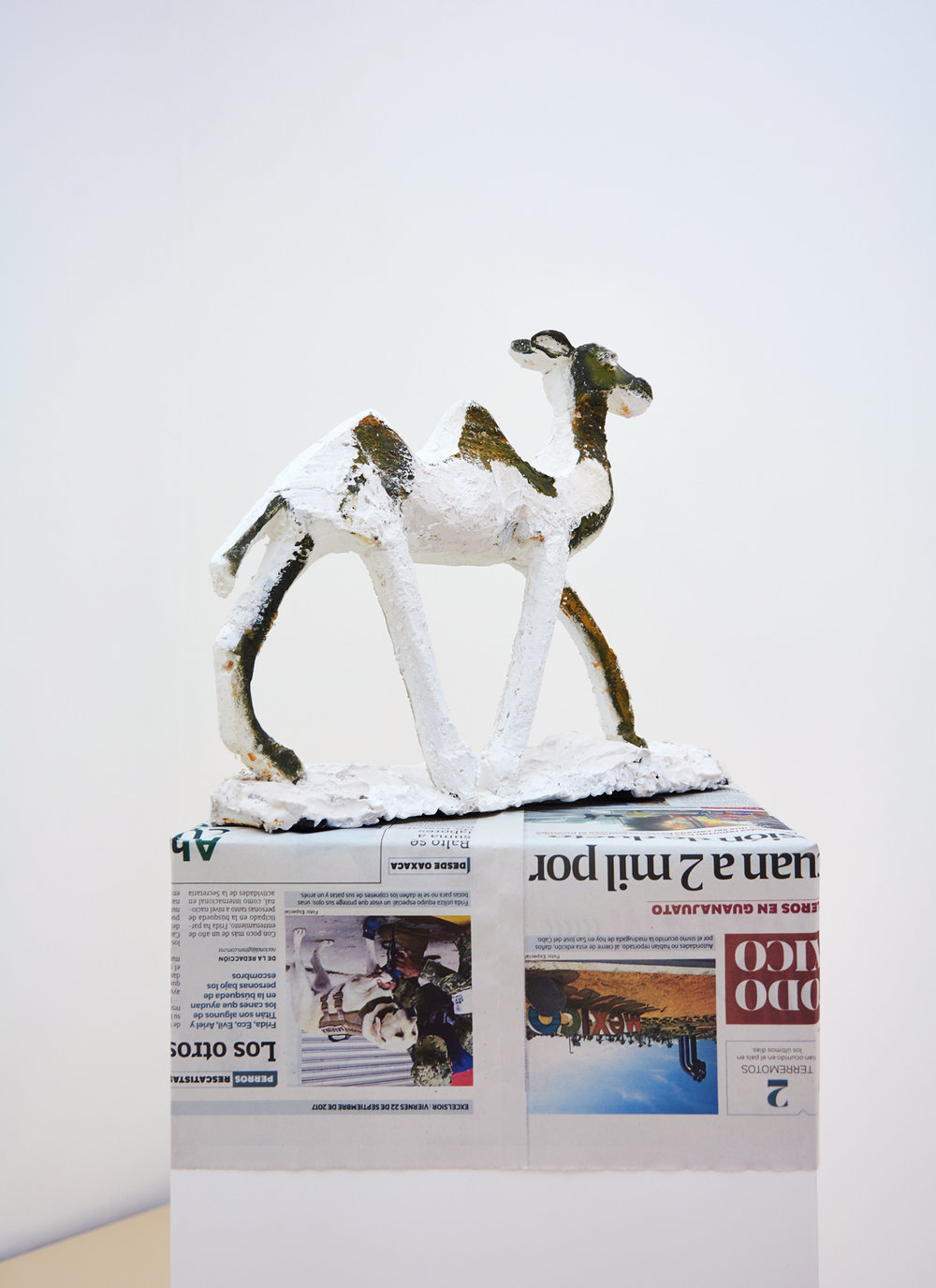 Lin May Saeed, Djamil sculpture, 2017. Steel, styrofoam, gypsum, acrylic paint, 28 x 39 x 10 cm